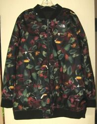Jacket Xl Black/toucan Floral Reversible Insulated Wind Multi Season