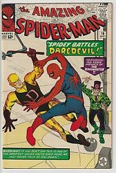 Amazing Spiderman 16 Vf 8.0 Gorgeous White Copy Deep, Rich Cover Colors Wow
