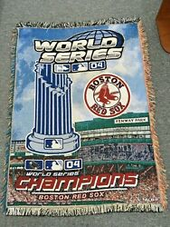 Boston Red Sox 2004 World Series Champions Woven Afghan Throw