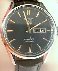 Tag Heuer Carrera Calibre 5 Mens Watch Automatic Day Date War201c Exc Condition