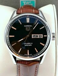 Tag Heuer Carrera Calibre 5 Mens Watch Automatic Day Date War201c Exc Cond