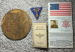Wwii Squadron Patch + Blood Chit Russian Named Group 99th Bg 348th Bs Id Card