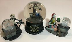 The Nightmare Before Christmas Snow Globes - Set Of 3