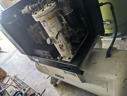 Ingersoll-rand Ep-15 Rotary Screw Compressor Tank Mounted