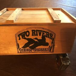 """Two Rivers Decoy Company Wooden Crate 12 3/4""""x9""""x5 3/4"""" With Lid"""