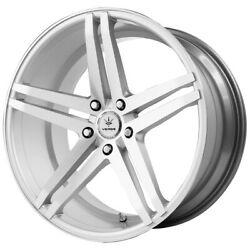 Staggered Verde V39 Parallax Front 20x9 Rear 20x11 5x120 Silver Wheels Rims