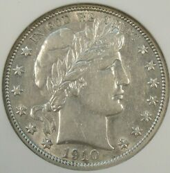 1910 Barber Half Dollar 50c Anacs Certified Xf45 Old Small Holder