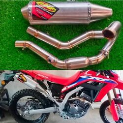 Exhaust Headers Muffler Pipe Honda Crf300l/rally Stainless Steel System Side