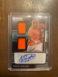 Wesley Sneijder Double Patch Auto 13/20 Obsidian Soccer.