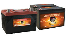 Xca27 And 2 Mr127 Agm 1k Mca For Marine Gas Engine And 100ah Deep Cycle Aux Battery