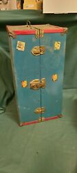 Vintage Doll Wardrobe Trunk 1950and039s 19 X 10 X 9 Approx.