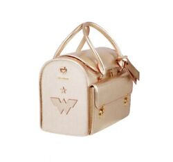 Moshiqa Gold Leather Pet Carrier Dog Cat Wonder Woman Limited Edition Luxury