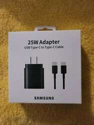 Samsung 25w Super Fast Wall Charger Usb-c For Samsung Galaxy S21 Ultra S20+ 5g