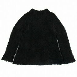 Yohji Yamamoto Pool Om Pour Homme Pile Long Knit Sweater Black Secondhand Mens