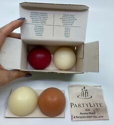 Genuine Partylite Aroma Melts Pack Of 4 Z2404 Assorted Scents Vanilla Cranberry
