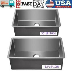 32and039and039 Commercial Kitchen Farmhouse Sink Apron Front Stainless Steel Single Bowl