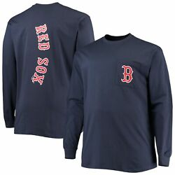 Boston Red Sox Fanatics Branded Big And Tall Solid Back Hit Long Sleeve T-shirt -