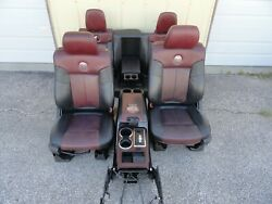 Ford F150 Harley-davidson Seat Set Front Rear Console 09 10 11 12 13 14 Heated