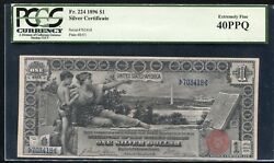 """Fr. 224 1896 1 """"educational"""" Silver Certificate Pcgs Extremely Fine-40ppq"""