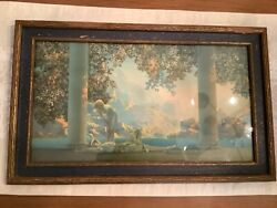 """Original 1920s Maxfield Parrish Daybreak Lithograph House Of Art Ny 20.5"""" X 12.5"""