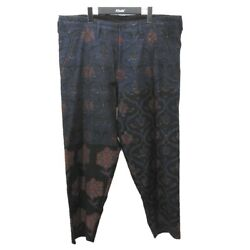 Secondhand Yohji Yamamoto Pour Homme2020aw Indian Pattern Wide Trousers Navy