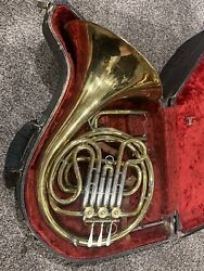 Vintage Pan American Brass French Horn Wcase 167642