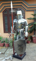 Full Size Knights Templar Suit Of Armour Medieval Roman Armor Halloween Gift