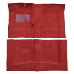 For Pontiac Catalina 65-70 Carpet Essex Replacement Molded Red Complete Carpet