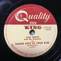 78 Rpm Smoke Gets In Your Eyes Earl Bostic Quality King Jukebox 1950and039s W Sleeve