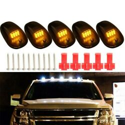 12-led Cab Roof Lights Top Running Smoked For Ford Suv Truck New Durable