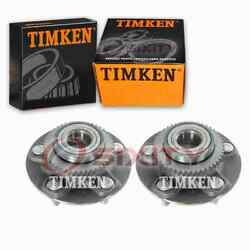 2 Pc Timken Front Wheel Bearing Hub Assembly For 2014-2017 Chevrolet Impala Lo