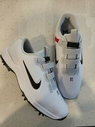 Nike Tw71 Fast Fit Tiger Woods Golf Shoes White Black Tour Cd6300-100 Size 9