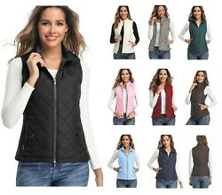 Womenand039s Vest - Stand Collar Lightweight Zip Quilted Vest For Women