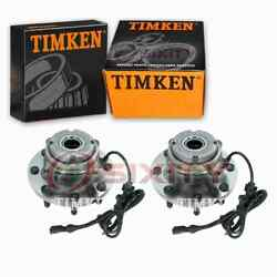 2 Pc Timken Front Wheel Bearing Hub Assembly For 1999-2004 Ford F-350 Super Gc