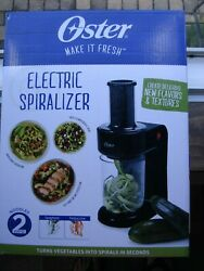 New Black Oster Electric Spiralizer Easy To Use Spiralize Veggies And More