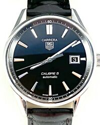 Tag Heuer Carrera Calibre 5 Mens Watch Automatic Model War211a In Exc. Condition