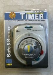 Ingraham Single Setting Timer Wall Outlet Timer Safe And Secure 1875 Watts New
