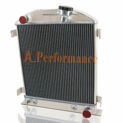 4 Row Radiator For 1928-1931 Ford Chopped/hi-boy/grill Shells For Chevy Engine