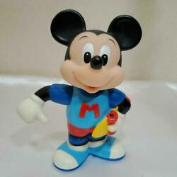 Mickey Mouse Soft Vinyl Bank Takeuchi Made In Japan