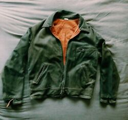 Big E Levi 's Leather Jacket Made In Italy Reversible Black Brown Motorcycle