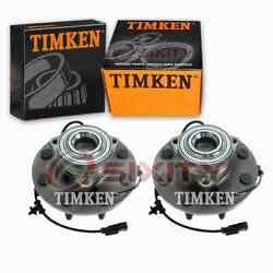 2 Pc Timken Front Wheel Bearing Hub Assembly For 2006-2008 Dodge Ram 3500 Ws