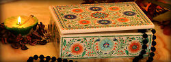 6x4x2 White Marble Vintage Box Fine Multi Stone Floral Inlay Home Deco H2191