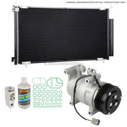For Lexus Gs450h 2007-2011 A/c Kit W/ Ac Compressor Condenser And Drier Tcp