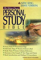 Holy Bible Nelson Classic Personal Study Bible, New King James Version, Bla...