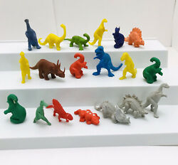 Vtg Plastic Dinosaurs Figures Marx And Others Prehistoric Toys Mixed Lot Of 19