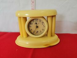 P-vintage Celluloid Antique 1920/30's Mantel/vanity Clock, Will Not Wind