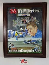 Ron Burton Miller High Life Beer Advertising 1981 Indianapolis 500 Bobby Unser