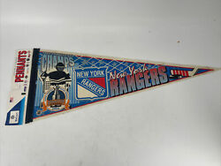 Vintage Rare 1994 Stanley Cup Champs New York Rangers Pennant New Old Stock