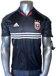 Nwt Official Adidas 2004/2005 Mls Dc United Home Mens Large Black Jersey 555583