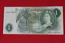 One Pound Bank Of England Bank Note Currency